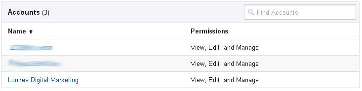 GTM Account Listings