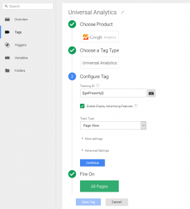 Add Universal Analytics to GTM